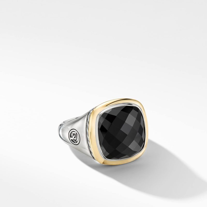 David Yurman Albion® Ring with Black Onyx and 18K Yellow Gold Image 1