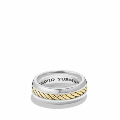 David Yurman Cable Classic Ring with 18K Gold Image 1