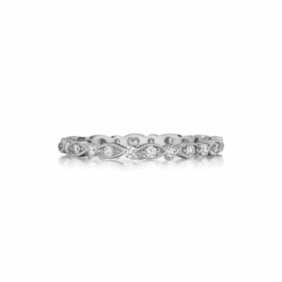 Henri Daussi Vintage Inspired Eternity Band Image 1