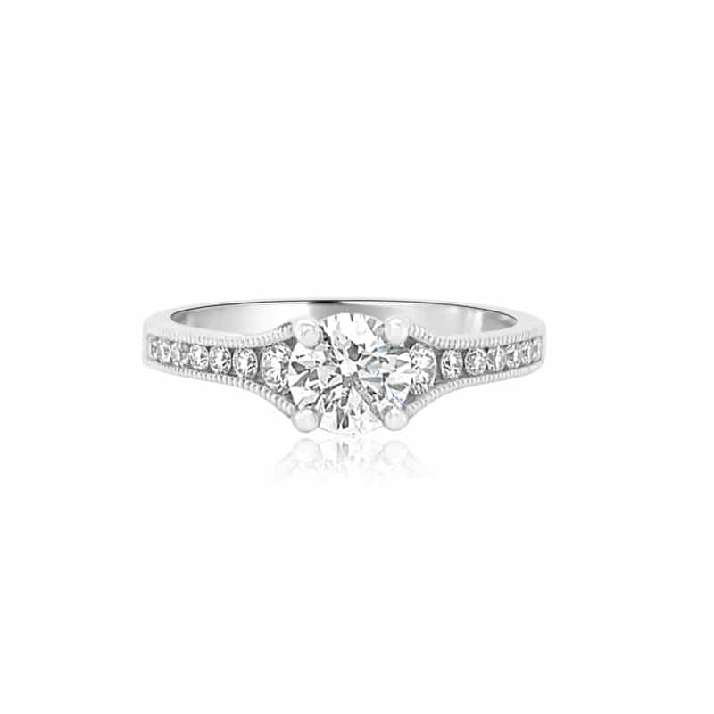 GRAVITY by BC Clark Graduating Side Stone Engagement Ring Image 1