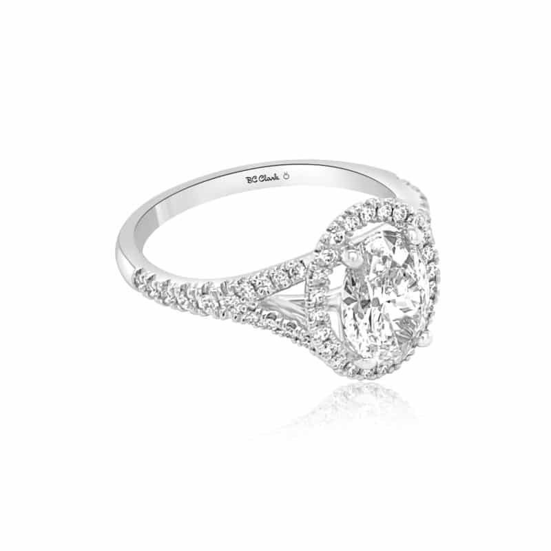 GRAVITY by BC Clark Classic Oval Engagement Ring Image 2