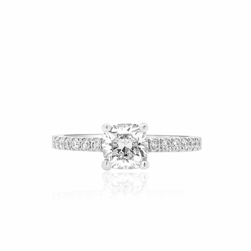 Gravity Forever Petite Round Engagement Ring Image 1