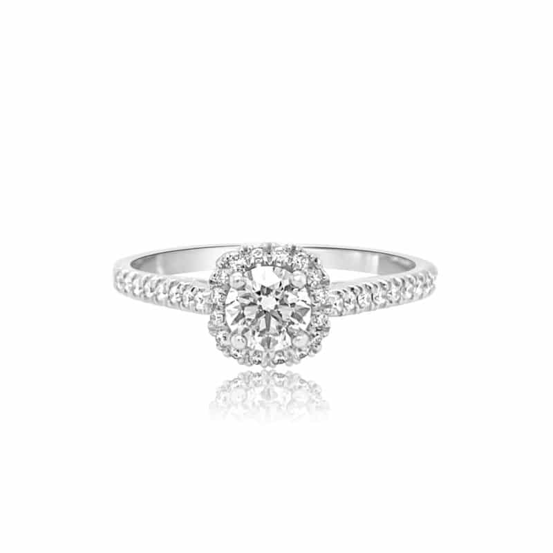 Gravity Forever Classic Halo Engagement Ring Image 1