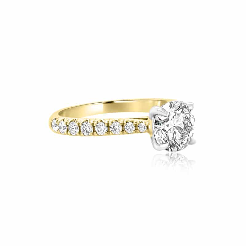 GRAVITY by BC Clark Two-Tone Classic Engagement Ring Image 2