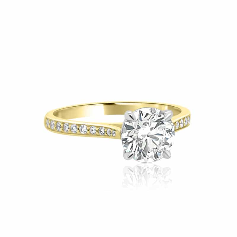 Gravity Forever Two-Toned Graduated Diamond Ring Image 2