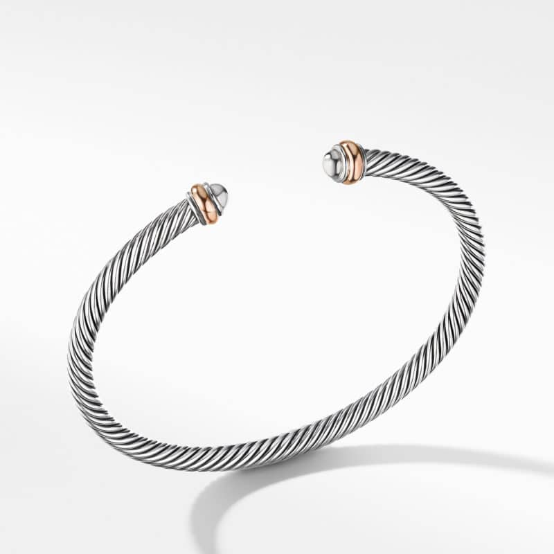 David Yurman Cable Classics Collection® Bracelet with 18K Rose Gold Image
