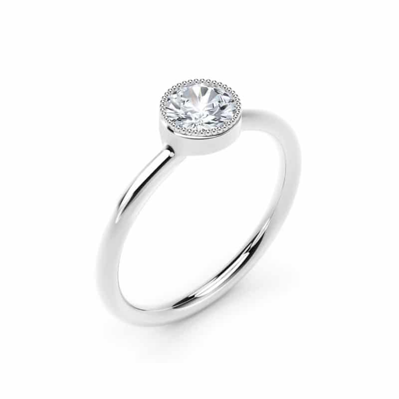 Forevermark Tribute Solitair Round Stacking Ring Image 2