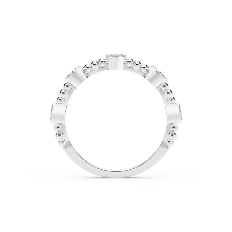 Forevermark Tribute 5 Stone Stacking Band in White Gold Image 3