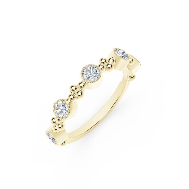 Forevermark Tribute 5 Stone Stacking Band in Yellow Gold Image 2