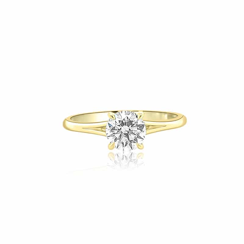 Forevermark Icon Solitair Engagement Ring Image 1