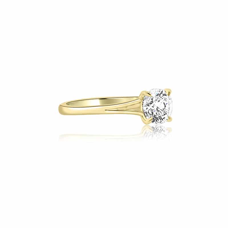Forevermark Icon Solitair Engagement Ring Image 2