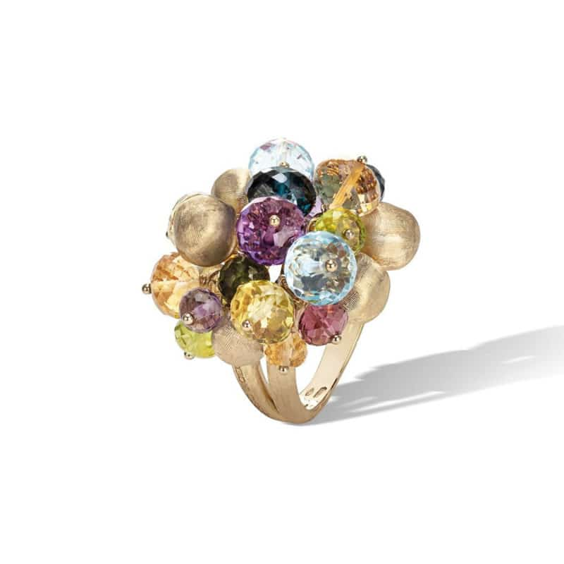 Marco Bicego Africa Mixed Gemstone Large Cocktail Ring