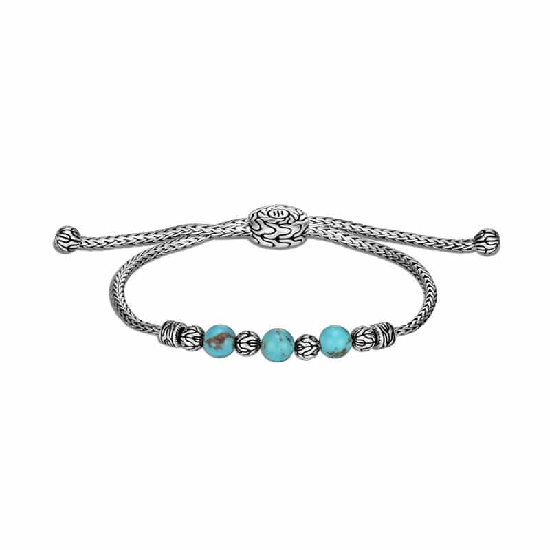 John Hardy Classic Chain Pull Through Bracelet with Turquoise Image 1
