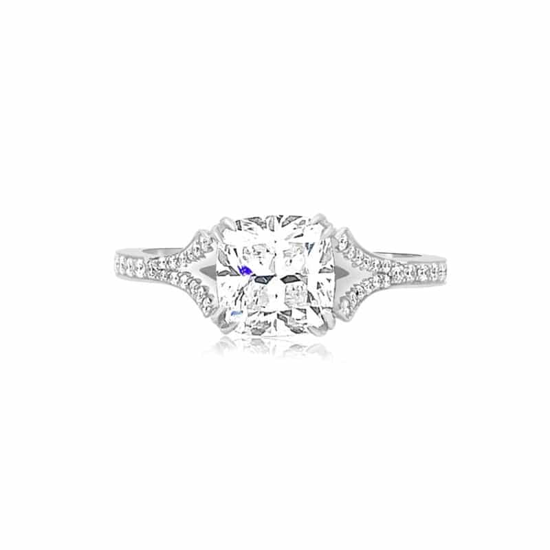 BC Clark Collection Engagement Rings Cushion Cut Engagement Ring Image 1
