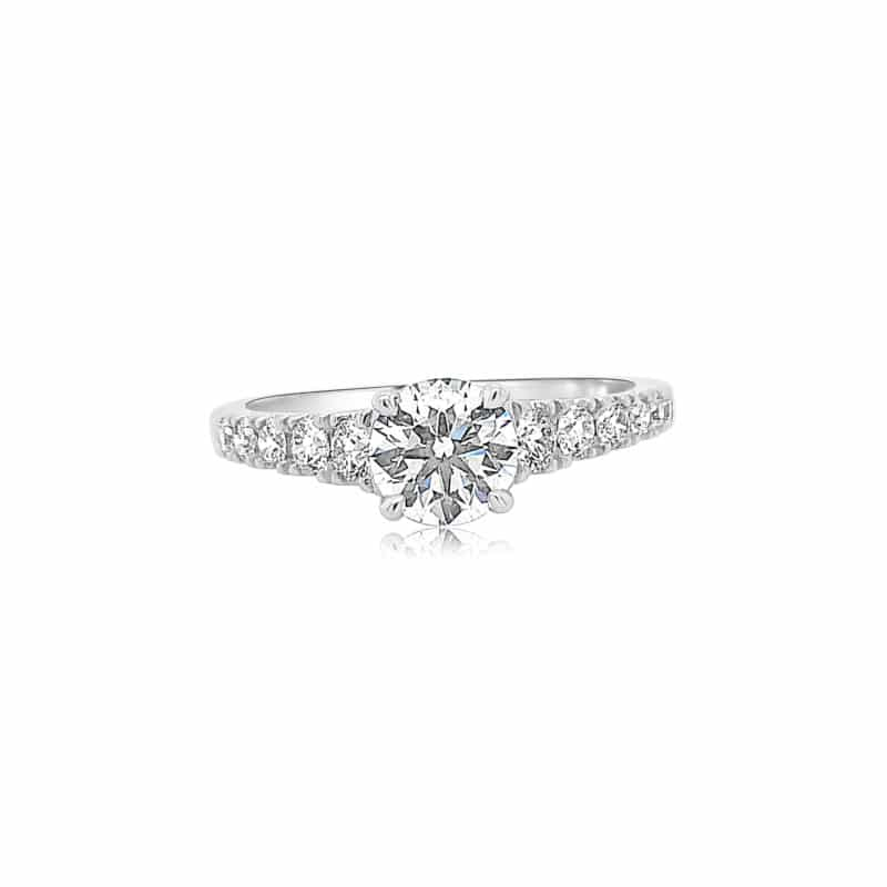 Hearts on Fire Engagement Rings Simple Round Engagement Ring Image 1