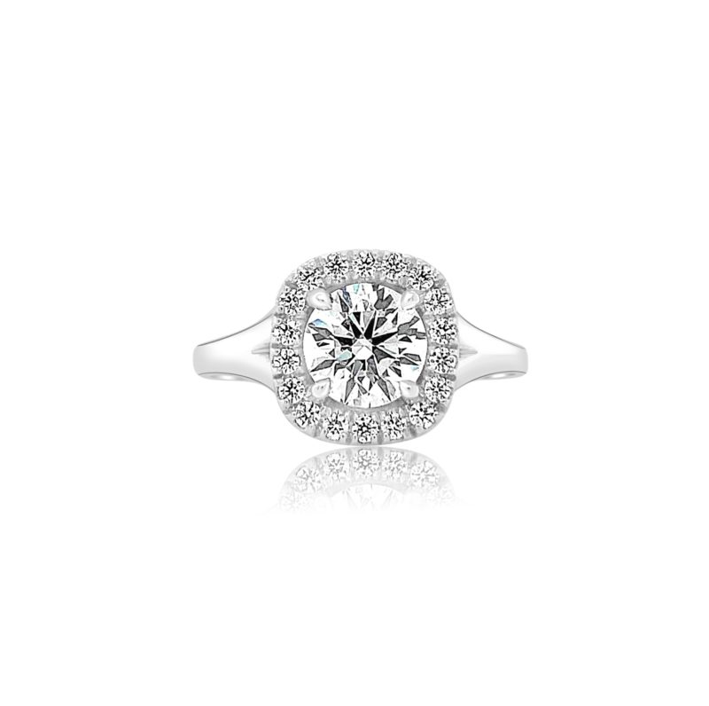 BC Clark Collection Engagement Rings Classic Diamond Halo Engagement Ring Image 1