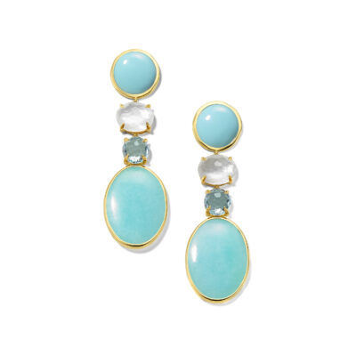 Ippolita Rock Candy 18K Rock Candy® Luce Medium Linear 4-Stone Post Earrings in Cascata Image 1