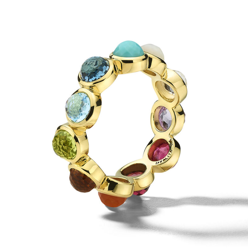 Ippolita Rock Candy 18K Gold Lollipop® All-Stone Ring in Rainbow Image 2