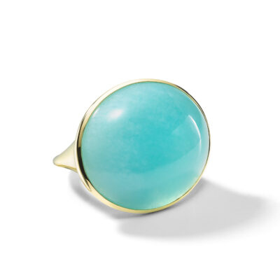 Ippolita Rock Candy 18K Rock Candy® Luce Oval Ring in Amazonite Cabochon Image 1