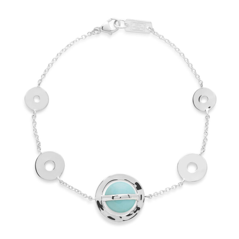Ippolita Senso Sterling Silver Senso™ 10mm Wrapped Stone with Open Disc Soft Bracelet in Turquoise Image 1
