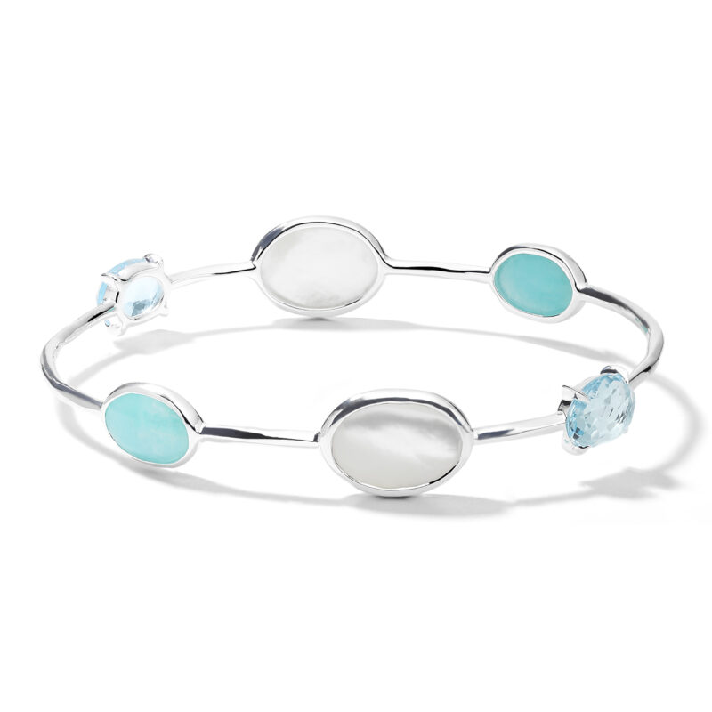 Ippolita Rock Candy Sterling Silver Rock Candy® Luce 6-Stone Bangle in Cascata Image 1
