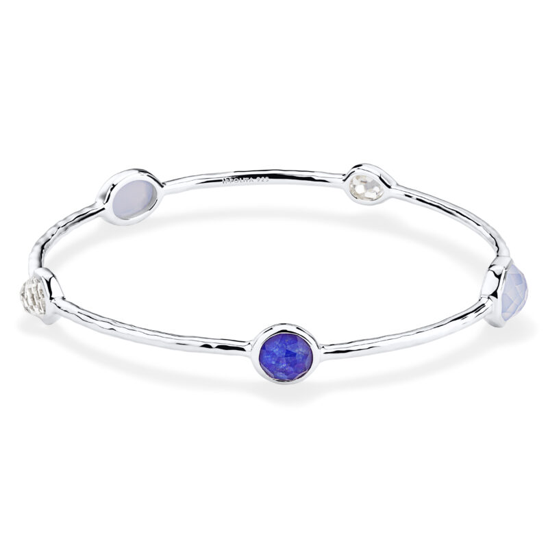 Ippolita Rock Candy Sterling Silver Rock Candy® 5-Stone Bangle in Barbados Image 1