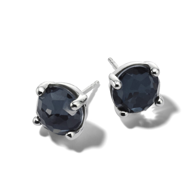 Ippolita Rock Candy Sterling Silver Rock Candy® Mini Stud Earrings in Rock Crystal and Hematite Image 1