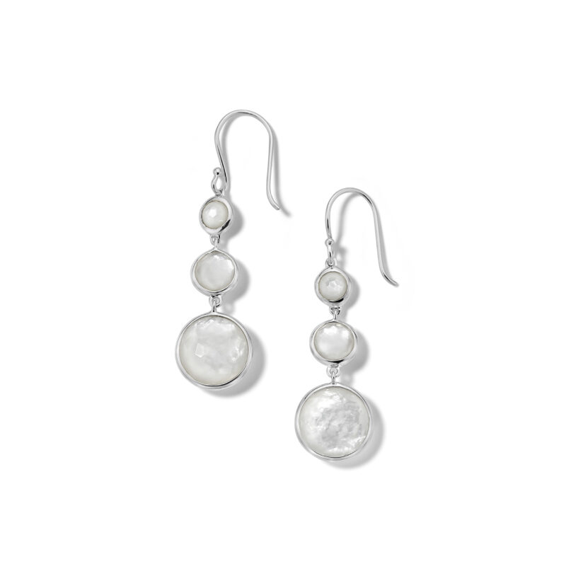 Ippolita Onda Sterling Silver Lollipop® Lollitini 3-Stone Drop Earrings in Mother-of-Pearl and MOP Doublet Image 1