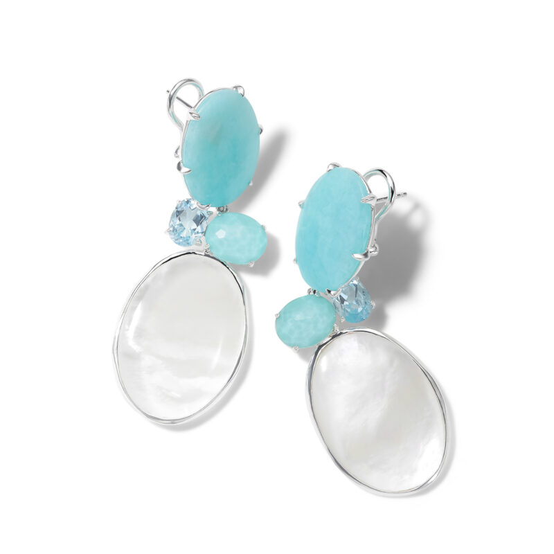 Ippolita Rock Candy Sterling Silver Rock Candy® Luce 4-Stone Earrings in Cascata Image 1