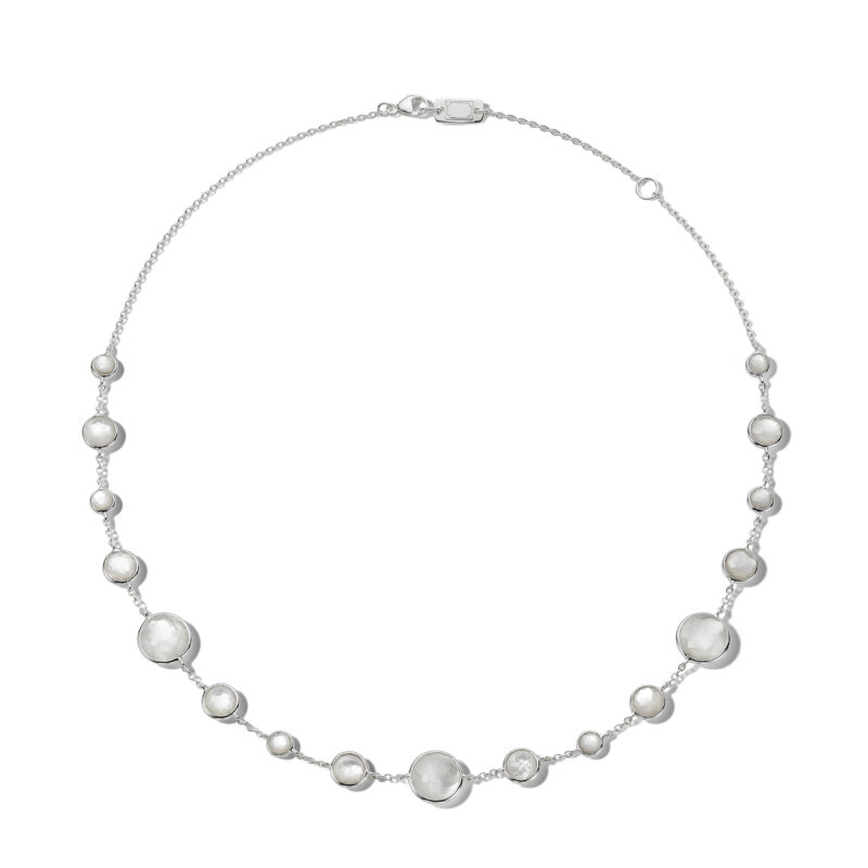 """Ippolita Lollipop Sterling Silver Lollipop® Lollitini Short Necklace in Mother-of-Pearl and MOP Doublet 16-18"""" Image 1"""