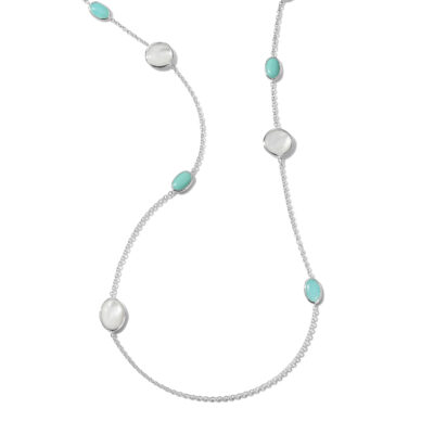 "Ippolita Classico Sterling Silver Rock Candy® Luce 8-Stone Long Necklace in Cascata 37"" Image 1"