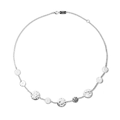 "Ippolita Classico Sterling Silver Classico Crinkle Hammered Circle Station Necklace 16-18"" Image 1"