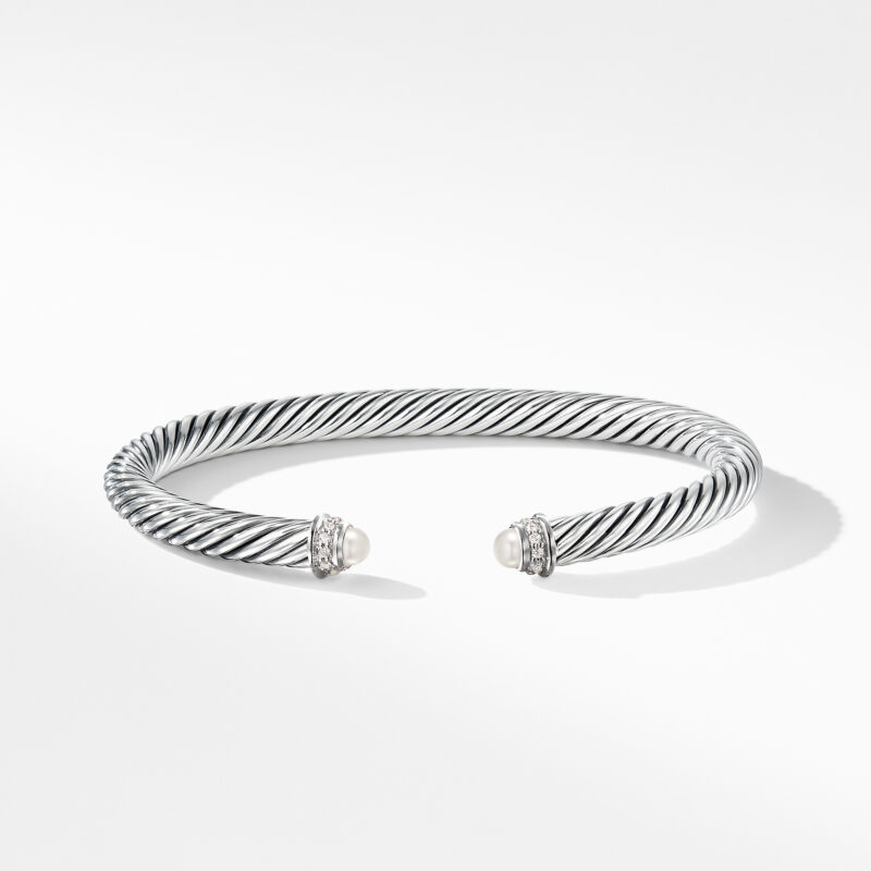 David Yurman Cable Classics Collection® Bracelet with Pearls and Diamonds Image 2