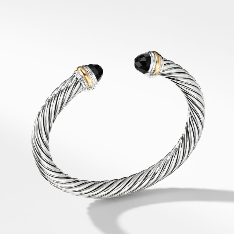 David Yurman Cable Classics Collection® Bracelet with Black Onyx and 14K Gold Image 1