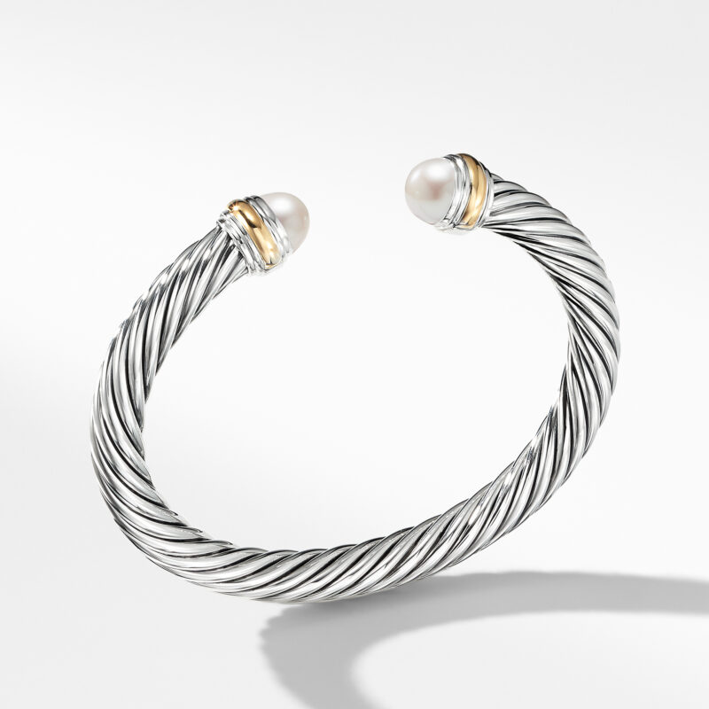 David Yurman Cable Classics Collection® Bracelet with Pearl and 14K Gold Image 1