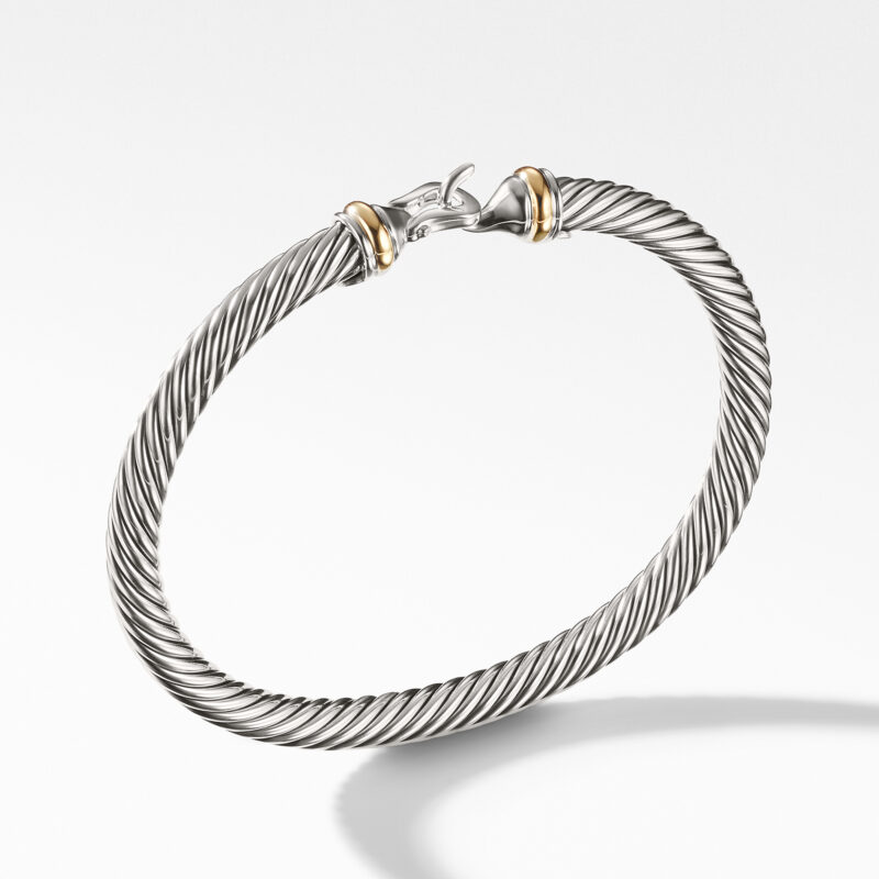 David Yurman Cable Buckle Bracelet with Gold Image 1