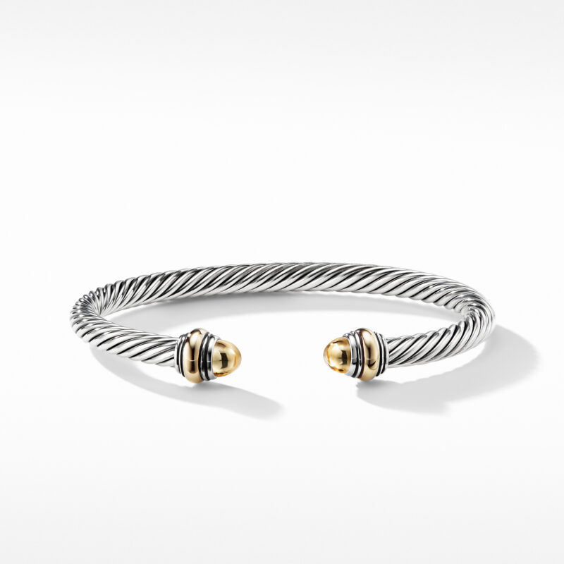 David Yurman Cable Classic Bracelet with Gold Image 2