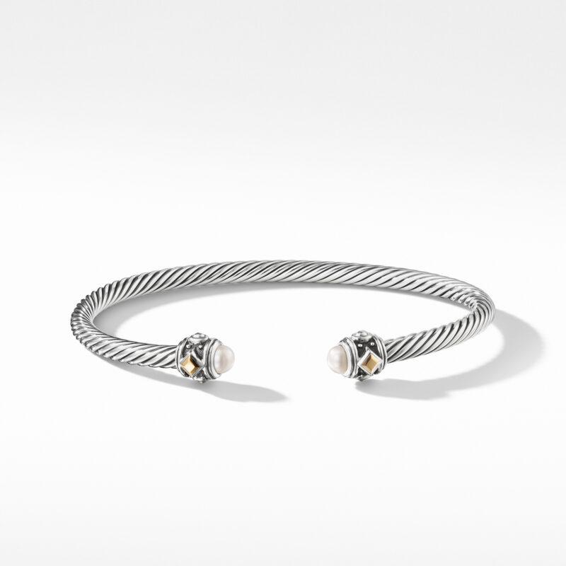 David Yurman Renaissance Bracelet with Pearls and 18K Gold Image 2