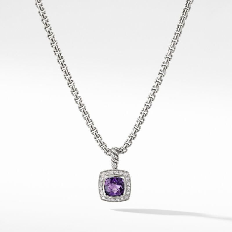 David Yurman Pendant Necklace with Amethyst and Diamonds Image 1