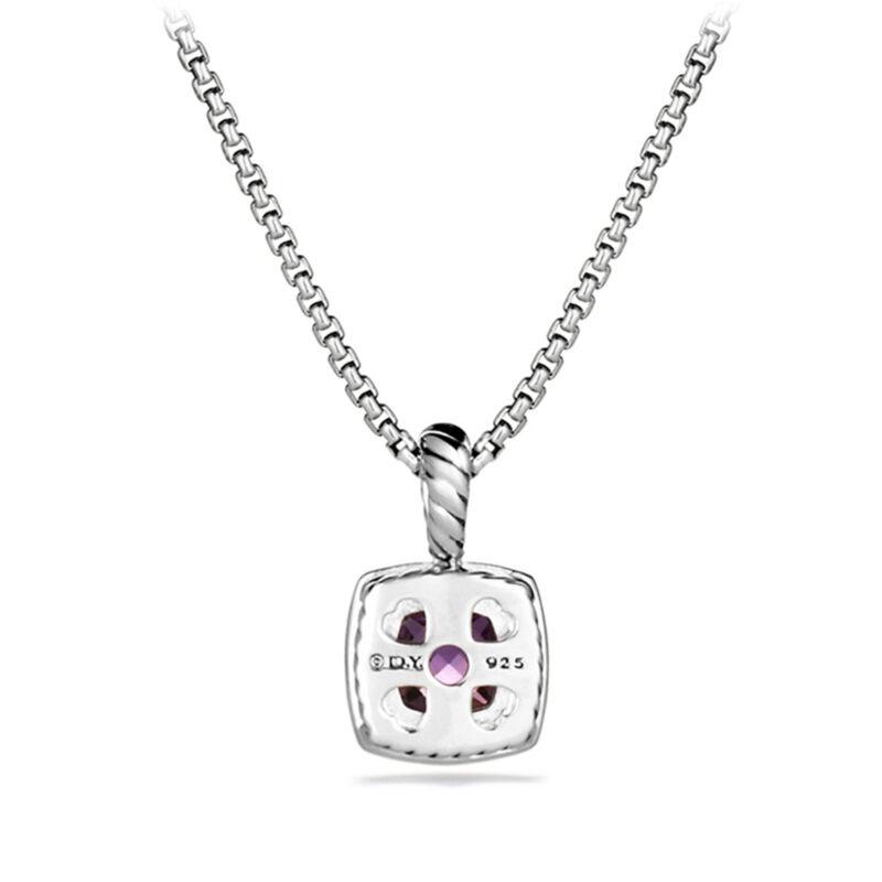 David Yurman Pendant Necklace with Amethyst and Diamonds Image 2