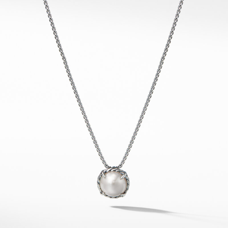 David Yurman Chatelaine® Pendant Necklace with Pearl Image 1