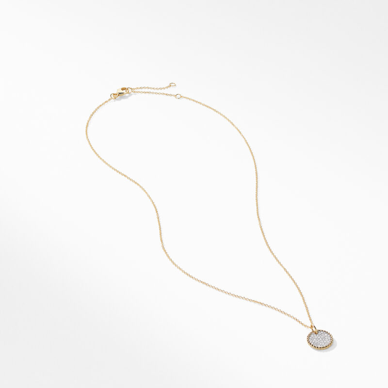 David Yurman Cable Collectibles Pavé Charm Necklace with Diamonds in 18K Gold Image 2