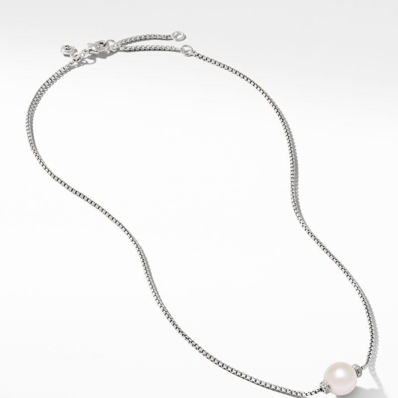 David Yurman Solari Pendant Necklace with Diamonds and Freshwater Pearl Image 2