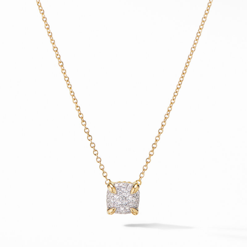 David Yurman Chatelaine® Pendant Necklace in 18K Yellow Gold with Full Pavé Diamonds Image 1