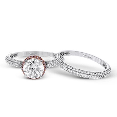 Simon G Engagement Rings Rose Gold Accented Semi-Mount Image 1