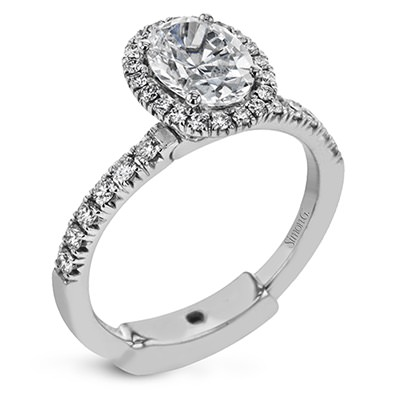 Simon G Engagement Rings Classic Halo With Oval Center Stone Image 1