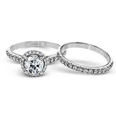 Simon G Engagement Rings Underhalo Engagement Ring Image 1
