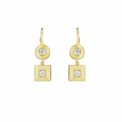 Penny Preville Round & Square Drop Earrings Image 1