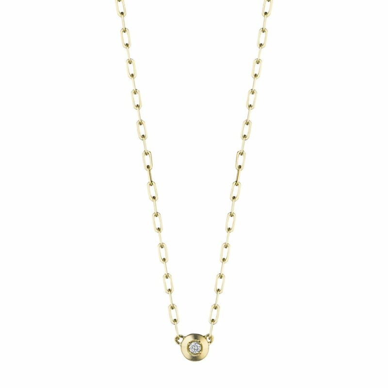Penny Preville Round Pendant with Link Chain Image 1